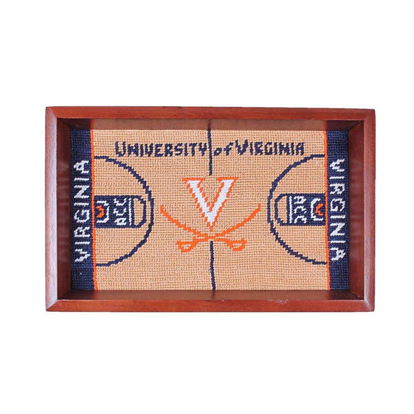 Smathers and Branson University of Virginia Paul Jones Arena Needlepoint Valet Tray by Smathers & Branson