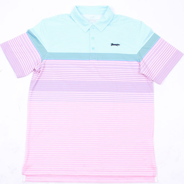 Custom Engineer Stripe Sankaty Performance Polo by Vineyard Vines