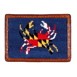 Maryland Flag Crab Needlepoint Credit Card Wallet by Smathers & Branson