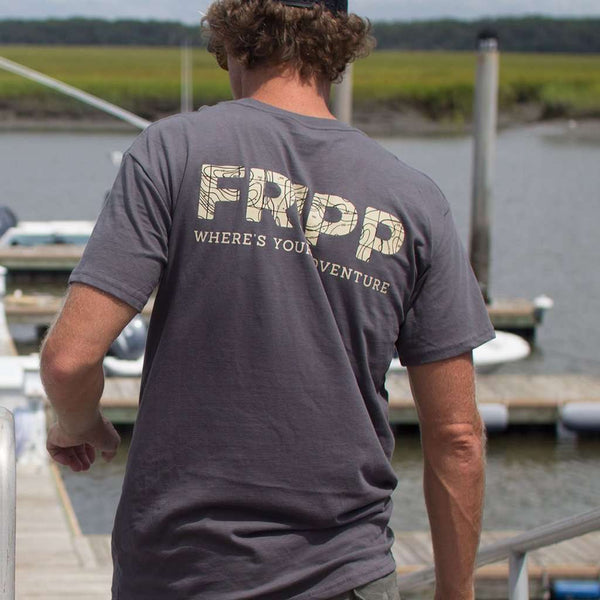 Fripp & Folly Map Logo Tee by Fripp Outdoors