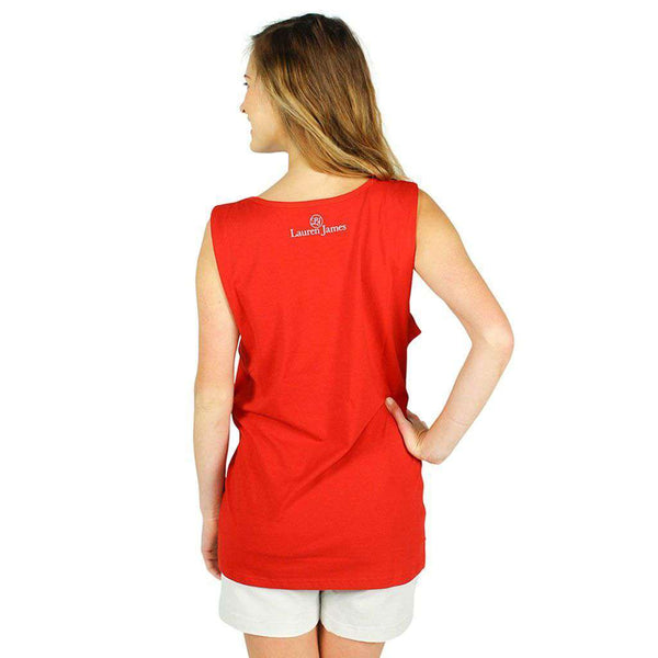 USA Pearl Tank Top in Red by Lauren James  - 2
