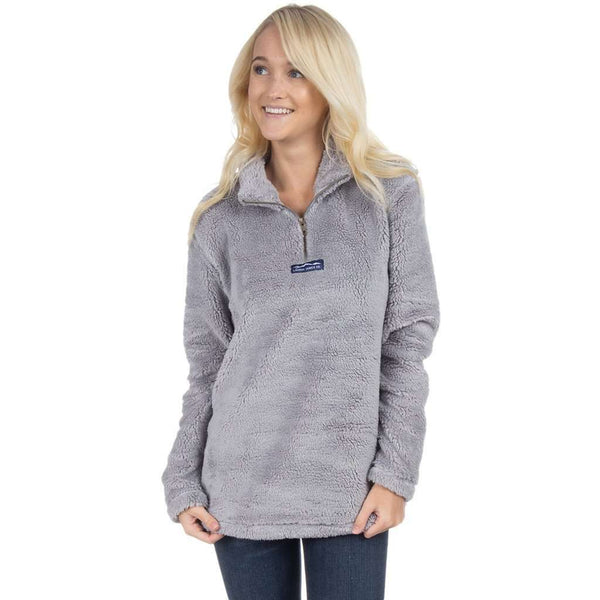 Linden Sherpa Pullover in Grey by Lauren James  - 1