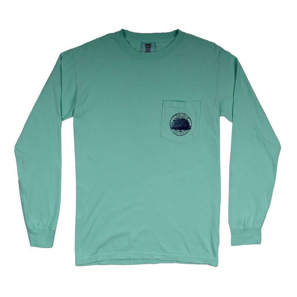 Preppy Pineapple Long Sleeve Tee in Island Reef by Live Oak - FINAL SALE