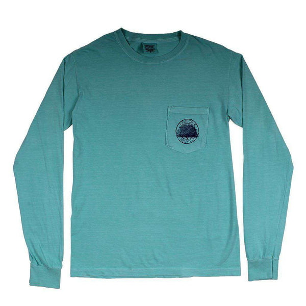 Bigger Weekend Long Sleeve Tee in Light Green by Live Oak - FINAL SALE