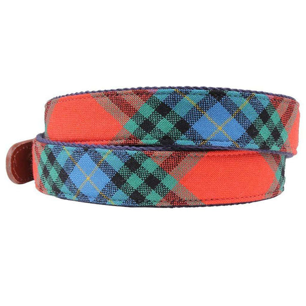 Maclay Tartan Leather Tab Belt by Country Club Prep