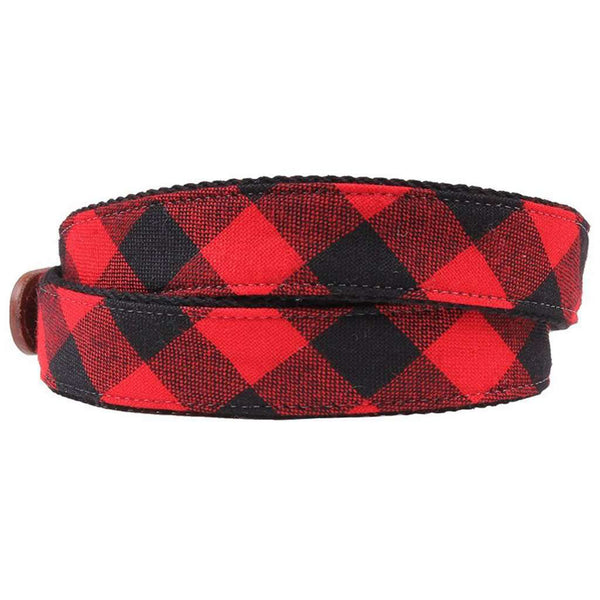 Rob Roy Tartan Leather Tab Belt by Country Club Prep