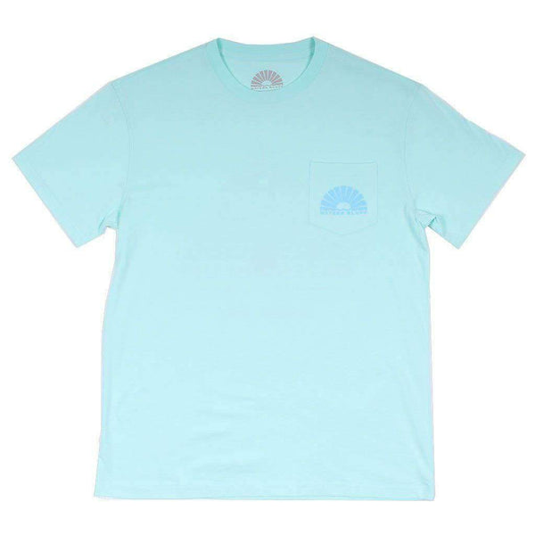 Danger Zone Simple Pocket Tee in Mint by Waters Bluff - FINAL SALE