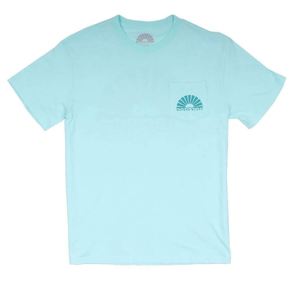 Logo Simple Pocket Tee in Mint by Waters Bluff - FINAL SALE