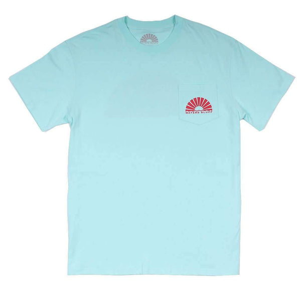 Fisher Simple Pocket Tee in Mint by Waters Bluff