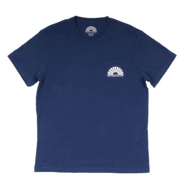 Van Gogh 4th Simple Pocket Tee in Navy by Waters Bluff - FINAL SALE