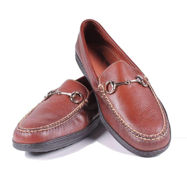 Men's Horsebit Driver Leather Loafers in Gridiron Brown by Country Club Prep