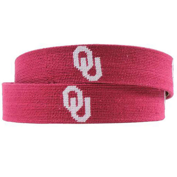 University of Oklahoma Needlepoint Belt by Smathers & Branson