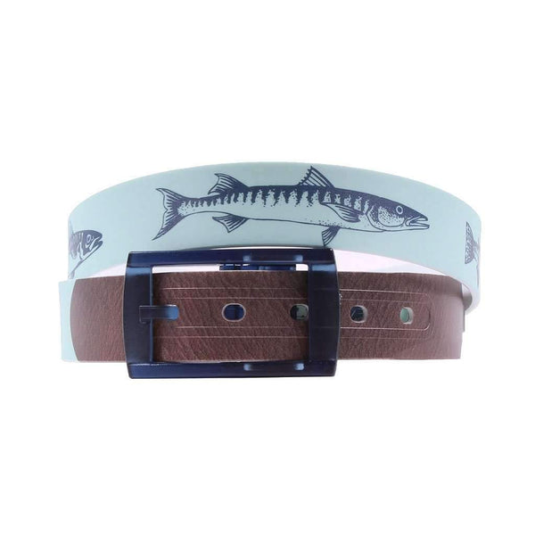 Fishing Mint Classic Belt with Navy Buckle by C4 Belts