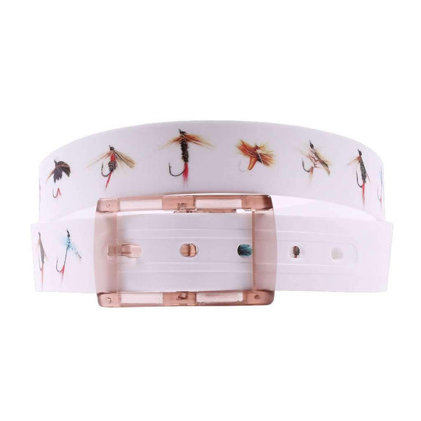 Fly Fishing Lures Classic Belt with Khaki Buckle by C4 Belts