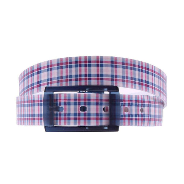 Spring Plaid Classic Belt with Navy Buckle by C4 Belts