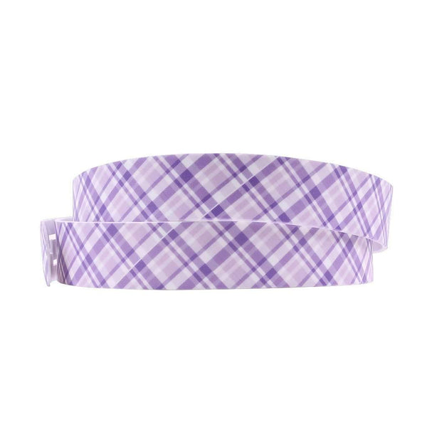 Summer Plaid Purple Classic Belt with Lavender Buckle by C4 Belts