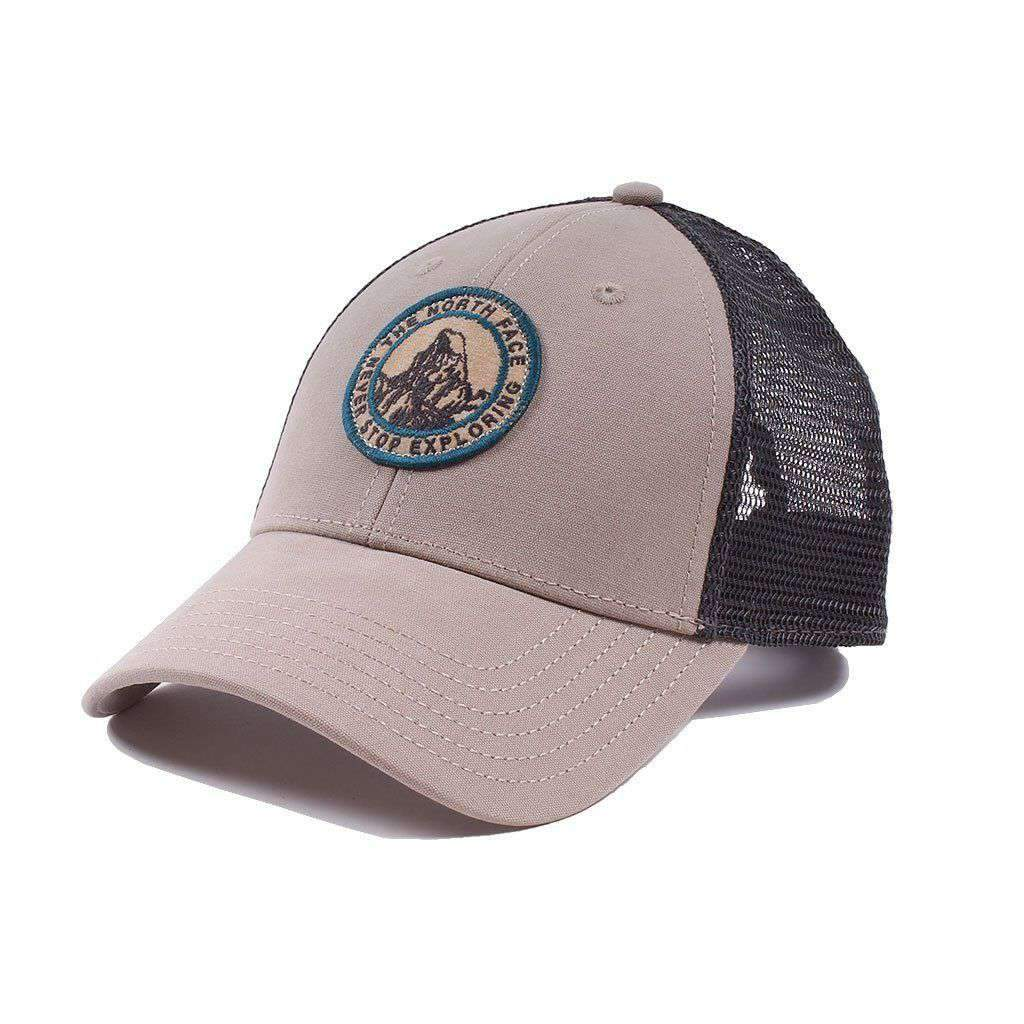 The North Face Broken In Trucker Hat in Vintage White   Bristol Blue –  Country Club Prep 2dcb5db517a