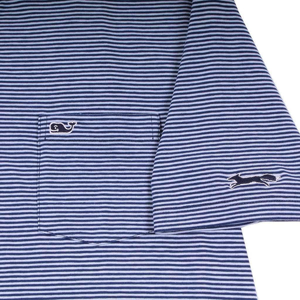 Feeder Stripe Edgartown Polo in Deep Bay by Vineyard Vines