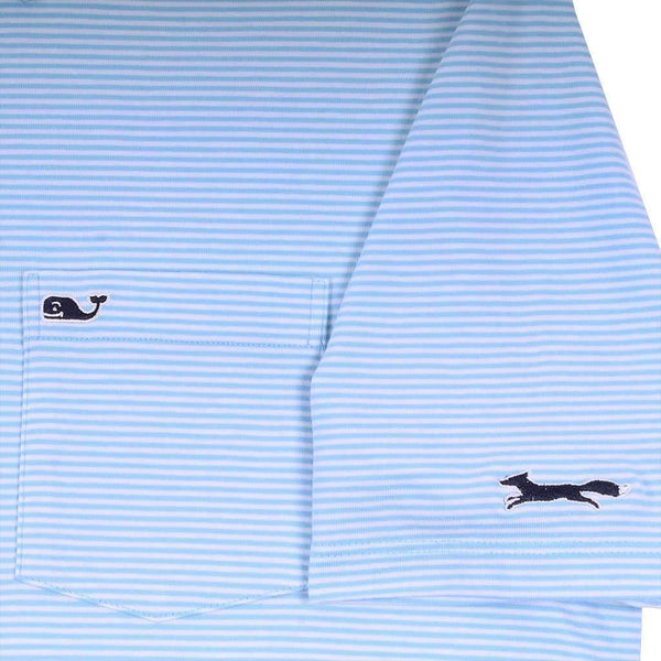 Feeder Stripe Edgartown Polo in Ocean Breeze by Vineyard Vines