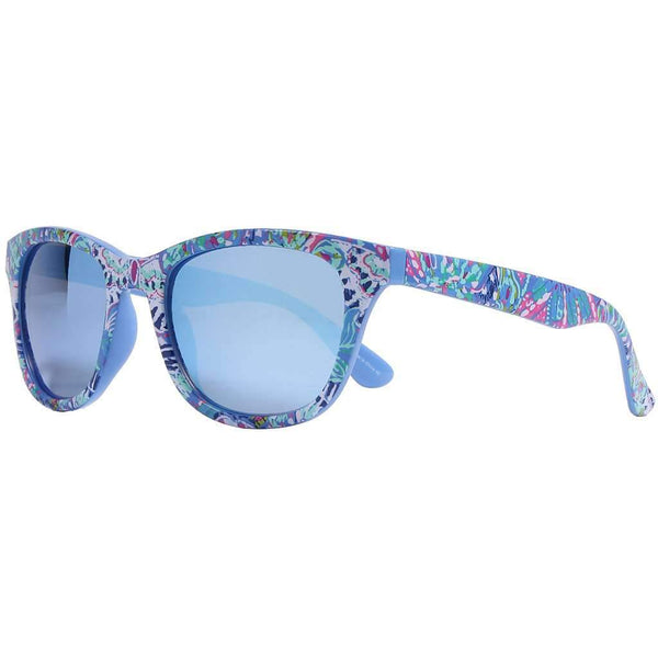 Maddie Sunglasses in Fantasy Garden With Aqua Lenses by Lilly Pulitzer