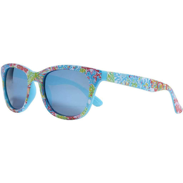 Maddie Sunglasses in Lovers Coral With Blue Lenses by Lilly Pulitzer