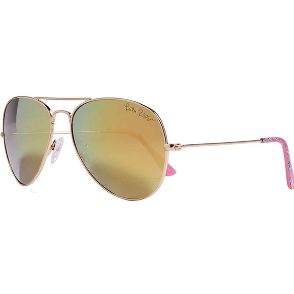 Lexy Sunglasses in Coco Coral Crab With Shiny Gold Lenses by Lilly Pulitzer