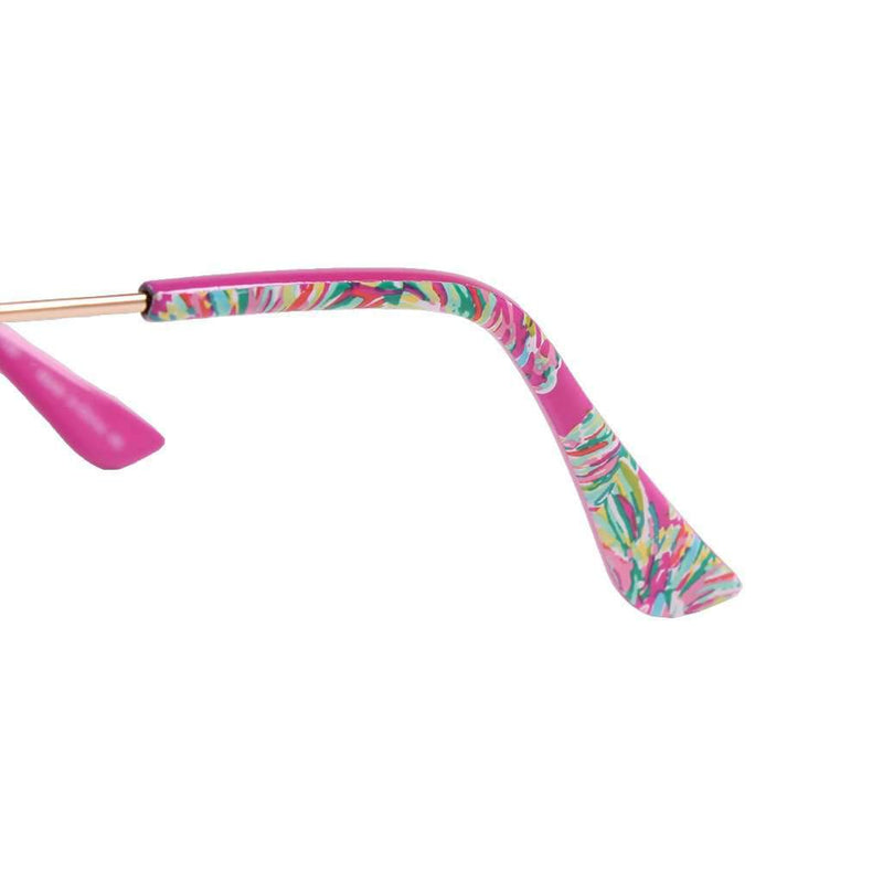 Lexy Sunglasses in Gold Metallic With Coral Lenses by Lilly Pulitzer