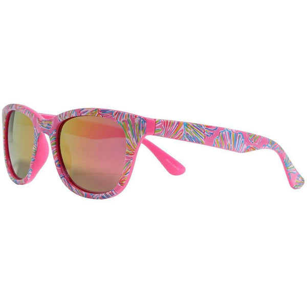 Maddie Sunglasses in Shellebrate With Pink Lenses by Lilly Pulitzer