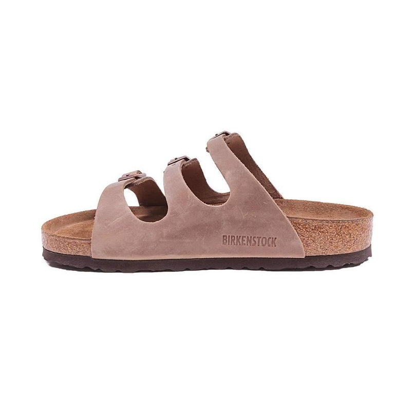 3fc5a4a89fe8 Women s Florida Oiled Leather Sandal in Tobacco with Soft Footbed by  Birkenstock