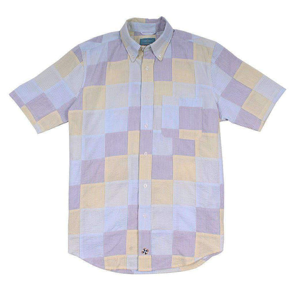 Chase Short Sleeve Patch Seersucker Shirt by Castaway Clothing