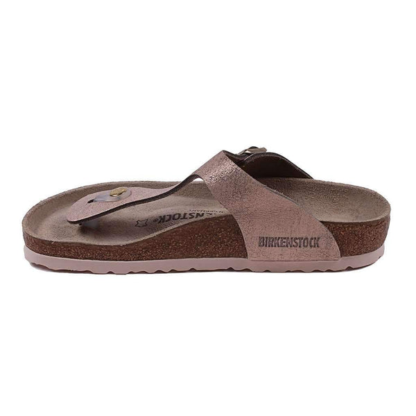 Women's Gizeh Suede Leather Sandal in Washed Rose by Birkenstock