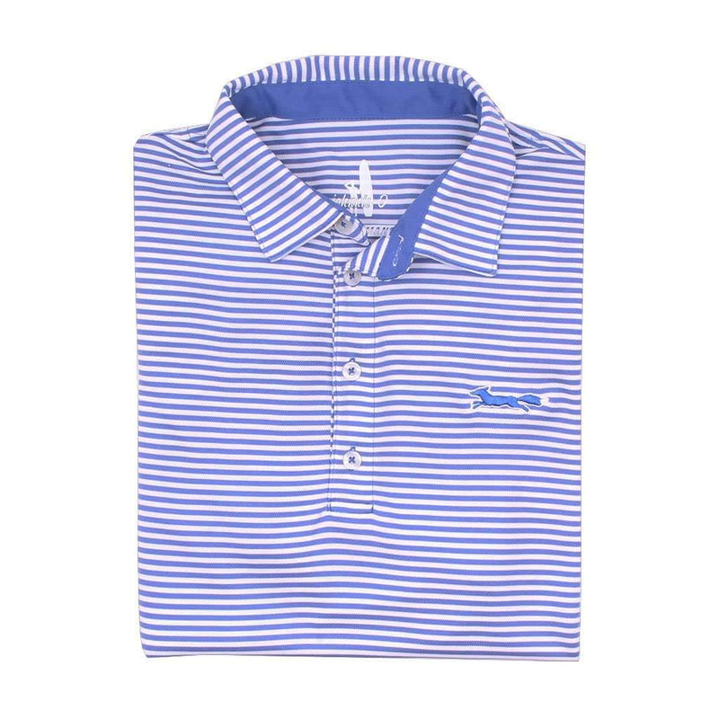 Johnnie-O Longshanks Bunker Stripe Prep-Formance Polo in Royal