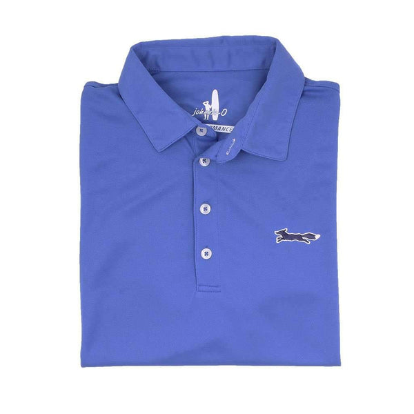 Johnnie-O The Longshanks Fairway Prep-Formance Polo in Royal