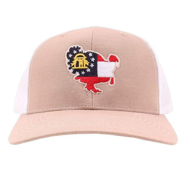 Georgia Flag Turkey Hat in Khaki and White by Southern Snap Co.