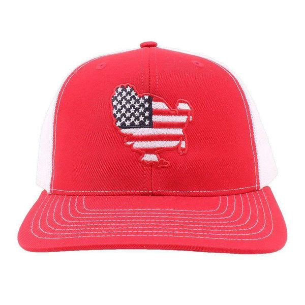 American Flag Turkey Hat in Red and White by Southern Snap Co.
