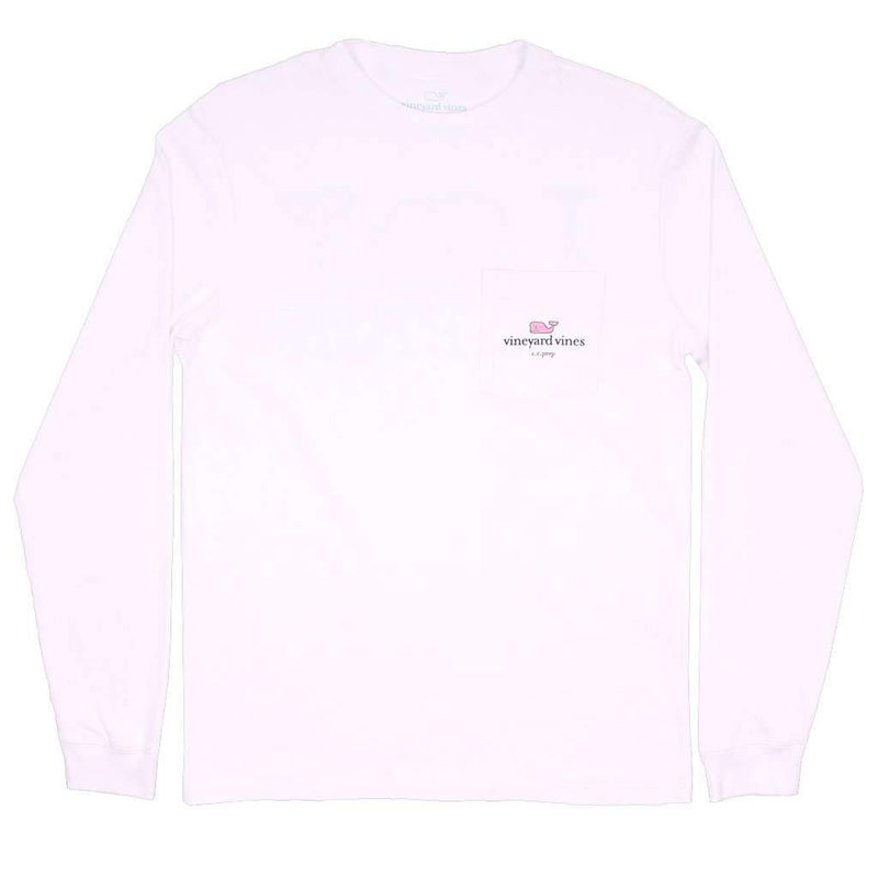 I Whale CC Prep Long Sleeve Tee Shirt in White Cap by Vineyard Vines