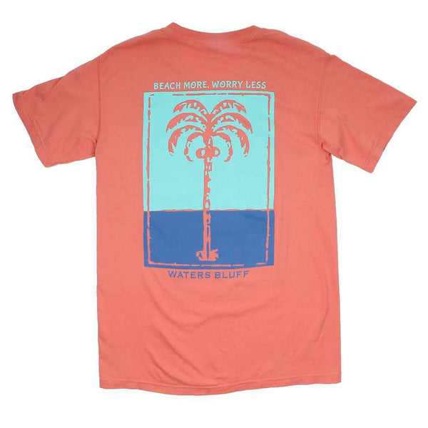 Palm OG Pocket Tee in Peach by Waters Bluff