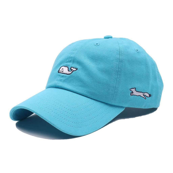Vineyard Vines Whale Logo Baseball Hat in Aqua by Vineyard Vines, Also Featuring Longshanks the Fox