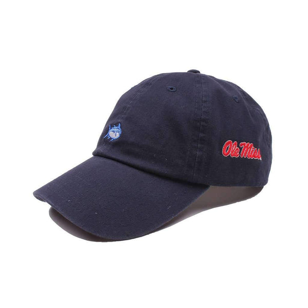 Southern Tide Ole Miss Collegiate Skipjack Hat in Navy