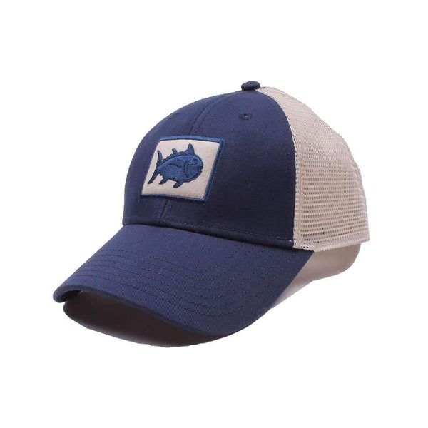 Southern Tide Gameday Skipjack Fly Patch Trucker Hat in Navy