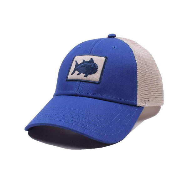 Southern Tide Gameday Skipjack Fly Patch Trucker Hat in University Blue