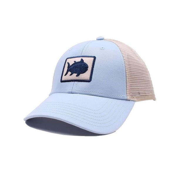 Southern Tide Gameday Skipjack Fly Patch Trucker Hat in Tide Blue