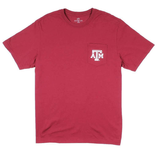 Texas A&M University Mascot Tee Shirt in Chianti by Southern Tide