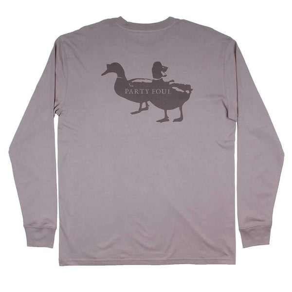 Long Sleeve Party Foul Tee in Flint Grey by Southern Proper
