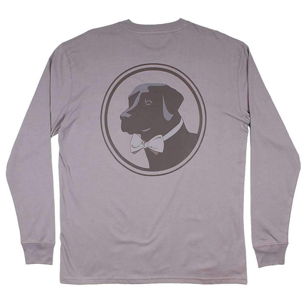 Long Sleeve Original Logo Tee in Flint Grey by Southern Proper