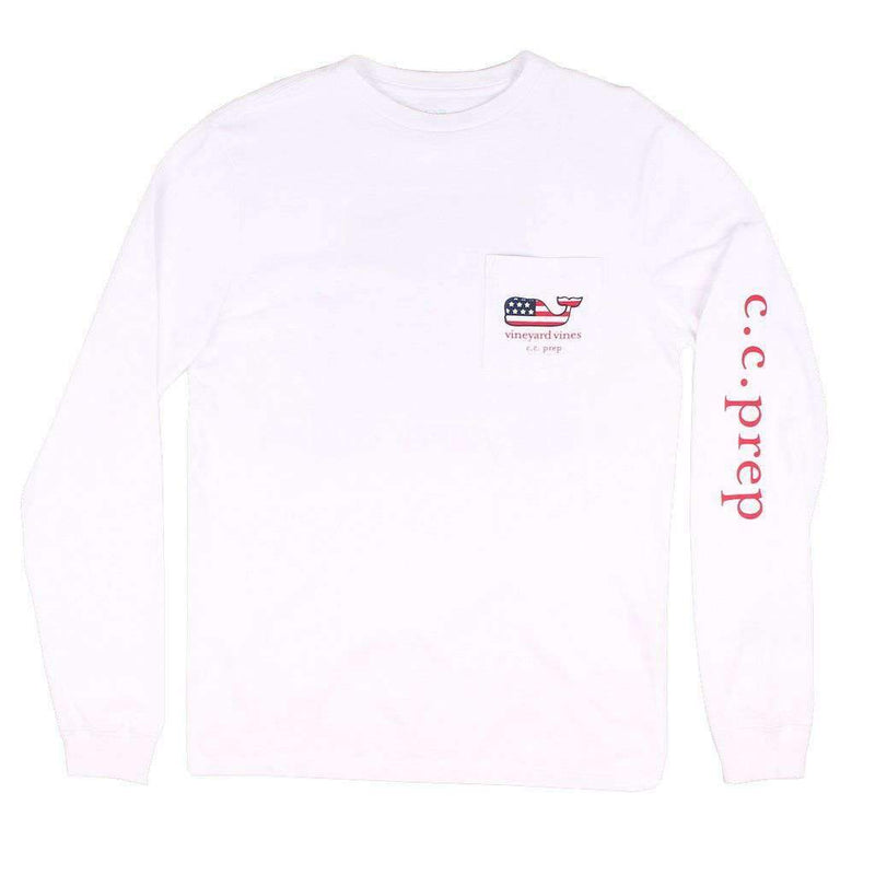 Jeep Back C.C. Prep Long Sleeve Tee Shirt in White Cap by Vineyard Vines