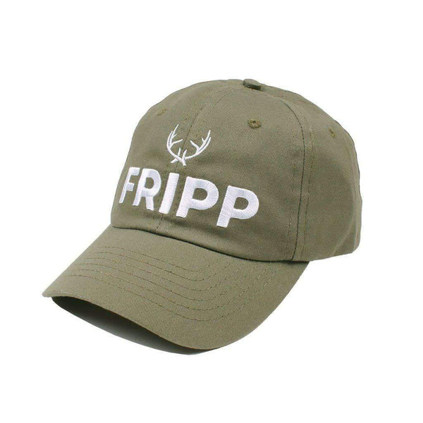 Fripp Outdoors Antler Logo Hat in Military Green
