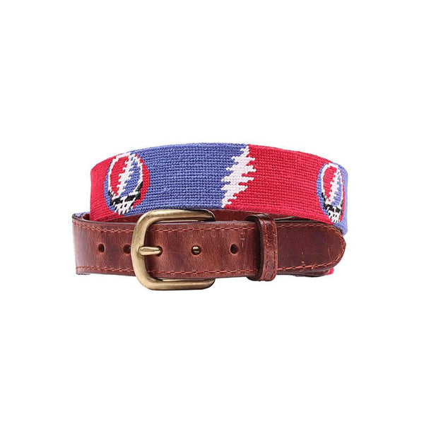 Smathers & Branson Steal Your Face Bolts Needlepoint Belt