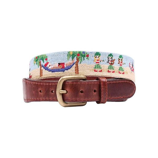 Smathers & Branson Tropical Christmas Needlepoint Belt