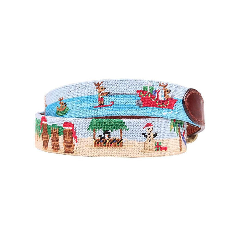Tropical Christmas Needlepoint Belt by Smathers & Branson